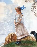 Fresh Air Girl - after Winslow Homer