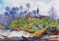Homer Visits Hunting Island - after Winslow Homer's In a Florida Jungle