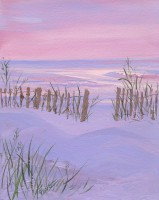 Hunting Island Beach at Sunset - Acrylic