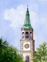 St. Helena Church Steeple - Beaufort, SC